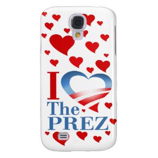 I Heart The Prez (white) Apple 3G iPhone Case Galaxy S4 Cover