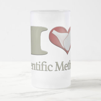 I Heart the Scientific Method Frosted Glass Beer Mug
