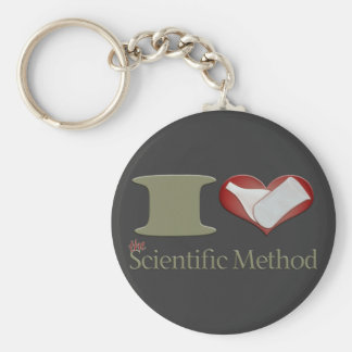 I Heart the Scientific Method Keychain