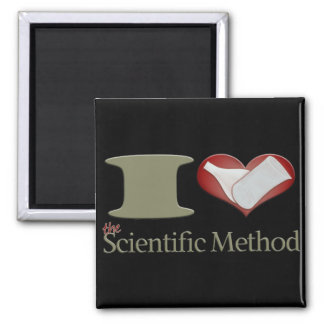I Heart the Scientific Method 2 Inch Square Magnet