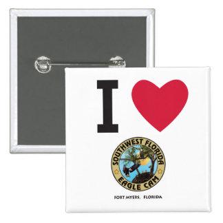 I HEART the Southwest Florida Eagle Cam Pinback Button