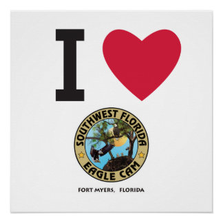 I HEART the Southwest Florida Eagle Cam Poste Poster