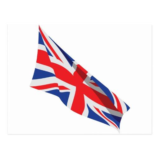 I Heart the UK/Union Jack Flag Postcards