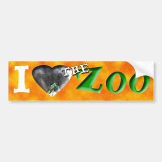 I (Heart) the Zoo (African Elephant) Bumper Sticker