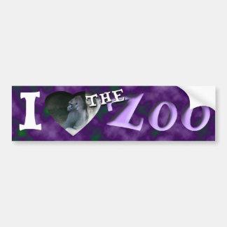 I (Heart) the Zoo (Lowland Gorilla) Bumper Sticker