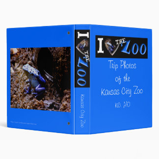 I (Heart) the Zoo: Poison Dart Frog 3 Ring Binder