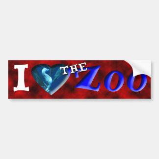 I (Heart) the Zoo (Seahorse) Car Bumper Sticker