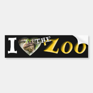I (Heart) the Zoo (Sloth) Bumper Sticker