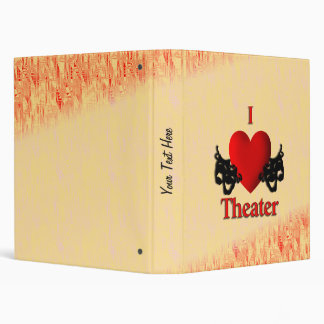 I Heart Theater 3 Ring Binder
