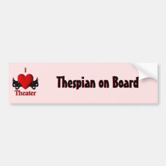 I Heart Theater Bumper Sticker