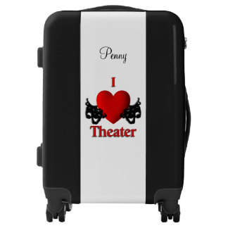 I Heart Theater Comedy Tragedy Masks Luggage