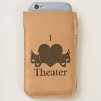 I Heart Theater Handmade Leather iPhone 6/6S Case