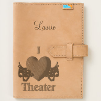 I Heart Theater Handmade Leather Journal