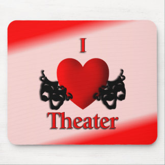 I Heart Theater Mouse Pad