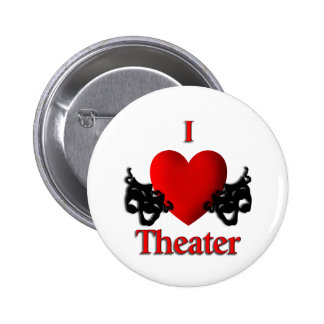 I Heart Theater Pinback Button