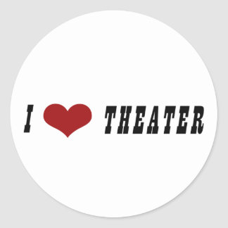 I Heart Theater Stickers