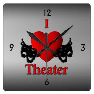 I Heart Theater Wall Clock Wallclocks