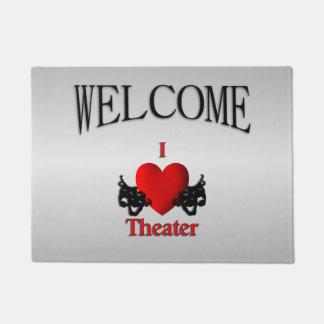 I Heart Theater Welcome Doormat