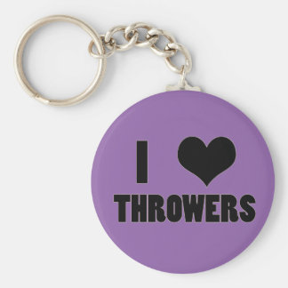I Heart Throwers, Track and Field Key Chain