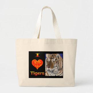 I heart tigers jumbo tote bag