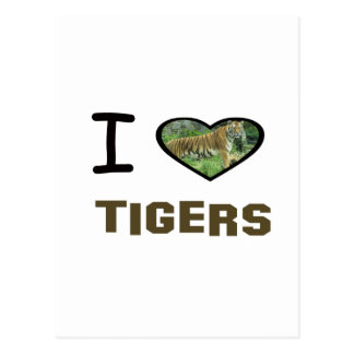 I Heart Tigers Post Cards