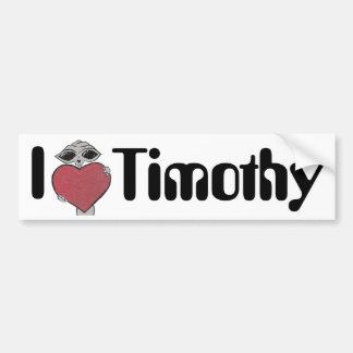 I Heart Timothy Alien Bumper Sticker