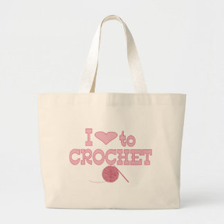 I heart to Crochet Jumbo Tote Bag
