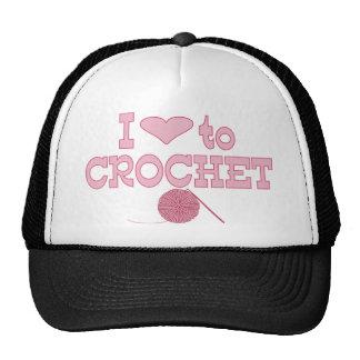 I heart to Crochet Trucker Hat