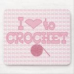 I heart to Crochet Mouse Mat