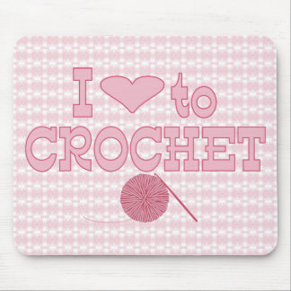I heart to Crochet Mouse Pad