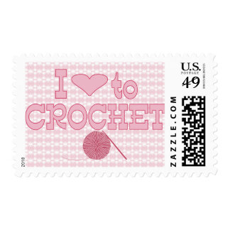 I heart to Crochet Postage Stamp