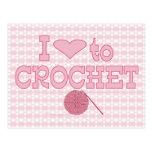 I heart to Crochet Postcard