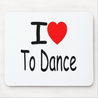i heart to dance b mouse pad