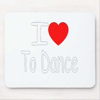 i heart to dance w mouse pad