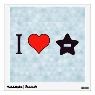 I Heart To Delete Favourites Wall Decal