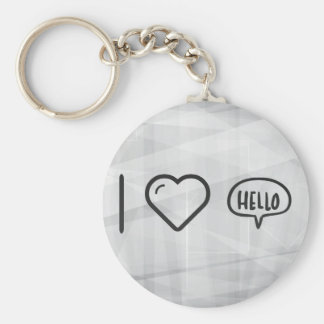 I Heart To Greets Basic Round Button Keychain