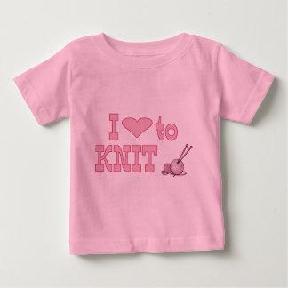 I heart to knit baby T-Shirt