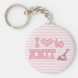 I heart to knit keychain