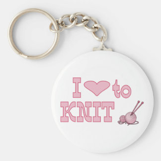 I heart to knit key chain