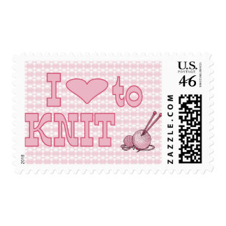 I heart to knit stamps
