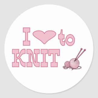 I heart to knit stickers