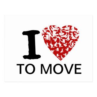 I Heart To Move Postcard | Fully Editable