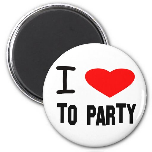 I Heart To Party Magnet