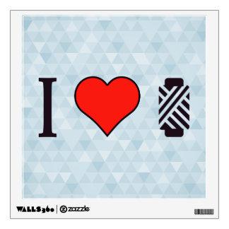 I Heart To Sew Wall Sticker
