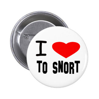I Heart To Snort Button