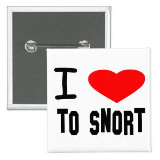 I Heart To Snort Buttons