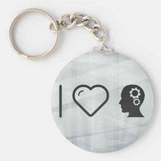 I Heart To Thinks Basic Round Button Keychain