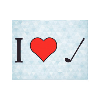 I Heart To Watch Golf Canvas Print
