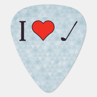 I Heart To Watch Golf Guitar Pick