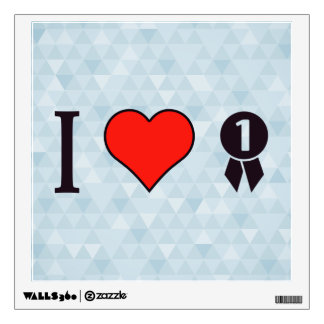 I Heart To Win The Game Wall Decal